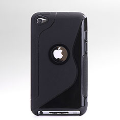 S-Line Silicone Gel Soft Cover for Apple iPod Touch 4 Black