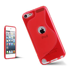 S-Line Transparent Gel Soft Case for Apple iPod Touch 5 Red