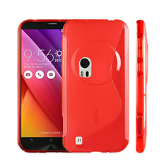 S-Line Transparent Gel Soft Case for Asus Zenfone Zoom ZX551ML Red
