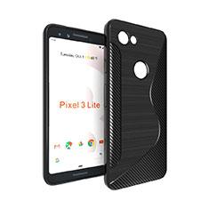 S-Line Transparent Gel Soft Case for Google Pixel 3a Black