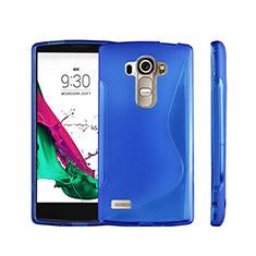 S-Line Transparent Gel Soft Case for LG G4 Beat Blue