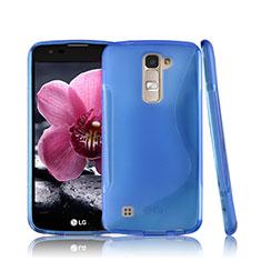 S-Line Transparent Gel Soft Case for LG K10 Blue