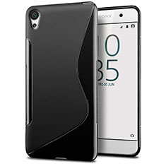 S-Line Transparent Gel Soft Case for Sony Xperia E5 Black