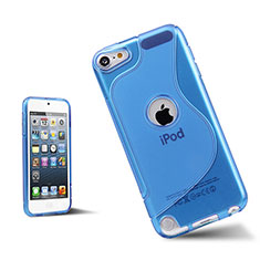 S-Line Transparent TPU Soft Case for Apple iPod Touch 5 Blue