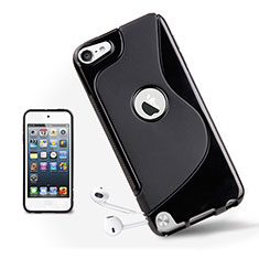 S-Line Transparent TPU Soft Cover for Apple iPod Touch 5 Black