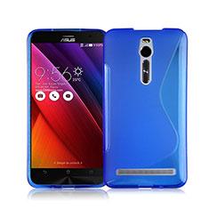 S-Line Transparent TPU Soft Cover for Asus Zenfone 2 ZE551ML ZE550ML Blue