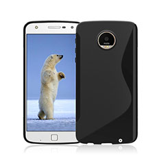 S-Line Transparent TPU Soft Cover for Motorola Moto Z Play Black