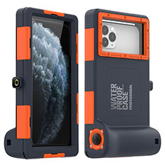 Silicone and Plastic Waterproof Case 360 Degrees Underwater Shell Cover for Apple iPhone 11 Pro Orange