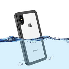 Silicone and Plastic Waterproof Cover Case 360 Degrees Underwater Shell for Apple iPhone X Black