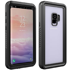 Silicone and Plastic Waterproof Cover Case 360 Degrees Underwater Shell for Samsung Galaxy S9 Black