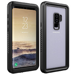 Silicone and Plastic Waterproof Cover Case 360 Degrees Underwater Shell for Samsung Galaxy S9 Plus Black