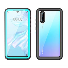 Silicone and Plastic Waterproof Cover Case 360 Degrees Underwater Shell T01 for Huawei P30 Cyan