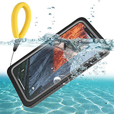 Silicone and Plastic Waterproof Cover Case 360 Degrees Underwater Shell U01 for Apple iPhone 11 Black