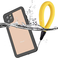 Silicone and Plastic Waterproof Cover Case 360 Degrees Underwater Shell U01 for Apple iPhone 11 Pro Black