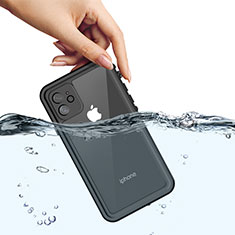 Silicone and Plastic Waterproof Cover Case 360 Degrees Underwater Shell W01 for Apple iPhone 11 Black