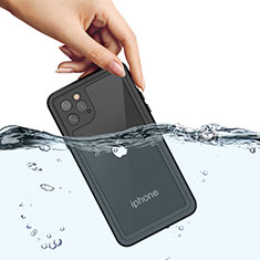 Silicone and Plastic Waterproof Cover Case 360 Degrees Underwater Shell W01 for Apple iPhone 11 Pro Max Black