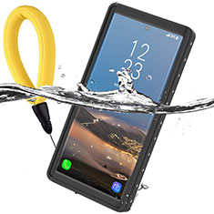 Silicone and Plastic Waterproof Cover Case 360 Degrees Underwater Shell W01 for Samsung Galaxy Note 10 Plus 5G Black