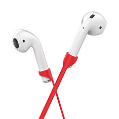Silicone Anti-lost Strap Wire Cable Connector C05 for Apple AirPods Pro Red