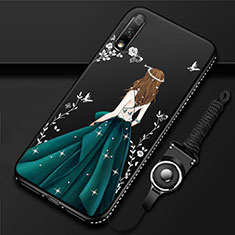 Silicone Candy Rubber Gel Dress Party Girl Soft Case Cover for Huawei Enjoy 10 Green