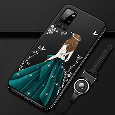 Silicone Candy Rubber Gel Dress Party Girl Soft Case Cover for Huawei Honor Play4 Pro 5G Green