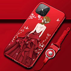 Silicone Candy Rubber Gel Dress Party Girl Soft Case Cover for Huawei Nova 8 SE 5G Red