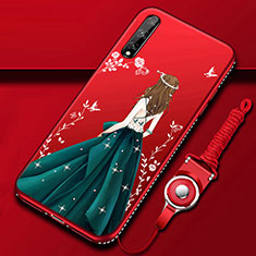 Silicone Candy Rubber Gel Dress Party Girl Soft Case Cover for Huawei Y8p Mixed