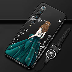 Silicone Candy Rubber Gel Dress Party Girl Soft Case Cover for Xiaomi Mi 10 Pro Green