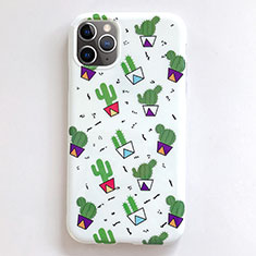 Silicone Candy Rubber Gel Fashionable Pattern Soft Case Cover H01 for Apple iPhone 11 Pro Max White