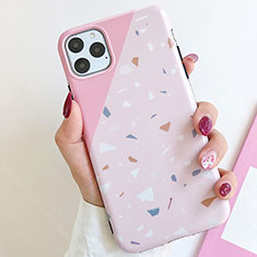 Silicone Candy Rubber Gel Fashionable Pattern Soft Case Cover S12 for Apple iPhone 11 Pro Max Pink