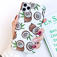 Silicone Candy Rubber Gel Fashionable Pattern Soft Case Cover S14 for Apple iPhone 11 Pro Max White