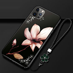 Silicone Candy Rubber Gel Flowers Soft Case Cover for Apple iPhone 12 Pro Max Brown