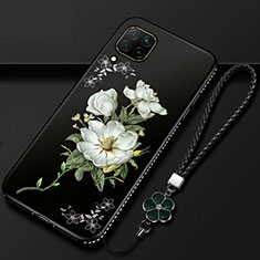 Silicone Candy Rubber Gel Flowers Soft Case Cover for Huawei P40 Lite White