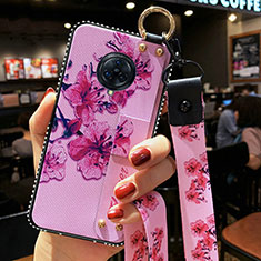 Silicone Candy Rubber Gel Flowers Soft Case Cover for Vivo Nex 3 Purple