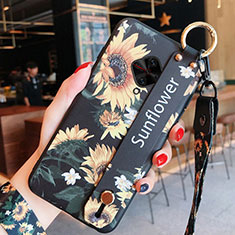 Silicone Candy Rubber Gel Flowers Soft Case Cover for Vivo X50 Lite Yellow