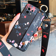 Silicone Candy Rubber Gel Flowers Soft Case Cover for Xiaomi Mi 11 5G Black