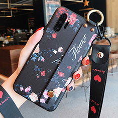 Silicone Candy Rubber Gel Flowers Soft Case Cover K01 for Samsung Galaxy Note 10 Plus 5G Black