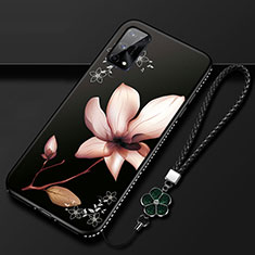 Silicone Candy Rubber Gel Flowers Soft Case Cover S01 for Realme X7 Pro 5G Brown