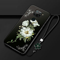 Silicone Candy Rubber Gel Flowers Soft Case Cover S05 for Xiaomi Redmi 10X 4G White