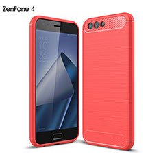 Silicone Candy Rubber Gel Soft Case for Asus Zenfone 4 ZE554KL Red