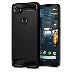 Silicone Candy Rubber Gel Soft Case for Google Pixel 2 XL Black