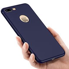 Silicone Candy Rubber Gel Soft Case With Hole for Apple iPhone 8 Plus Blue