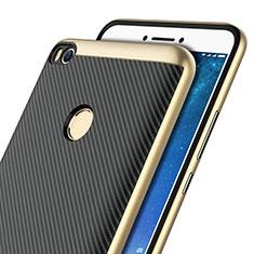 Silicone Candy Rubber Gel Twill Soft Case for Xiaomi Mi Max 2 Gold