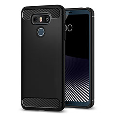 Silicone Candy Rubber Soft Case TPU for LG G6 Black