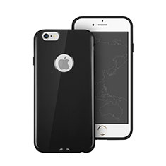 Silicone Candy Rubber Soft Cover With Hole for Apple iPhone 6S Black