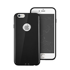 Silicone Candy Rubber Soft Cover With Hole for Apple iPhone 6S Plus Black