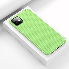 Silicone Candy Rubber TPU Line Soft Case Cover C01 for Apple iPhone 11 Green