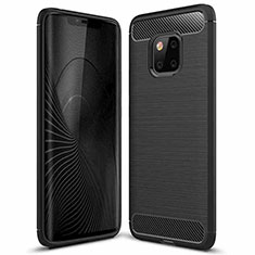 Silicone Candy Rubber TPU Line Soft Case Cover C01 for Huawei Mate 20 Pro Black