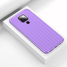 Silicone Candy Rubber TPU Line Soft Case Cover C01 for Huawei Mate 20 Purple