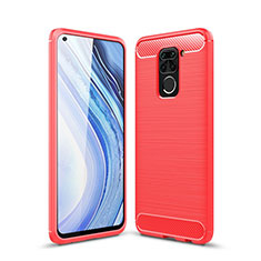 Silicone Candy Rubber TPU Line Soft Case Cover C01 for Xiaomi Redmi Note 9 Red