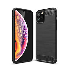Silicone Candy Rubber TPU Line Soft Case Cover C02 for Apple iPhone 11 Pro Max Black